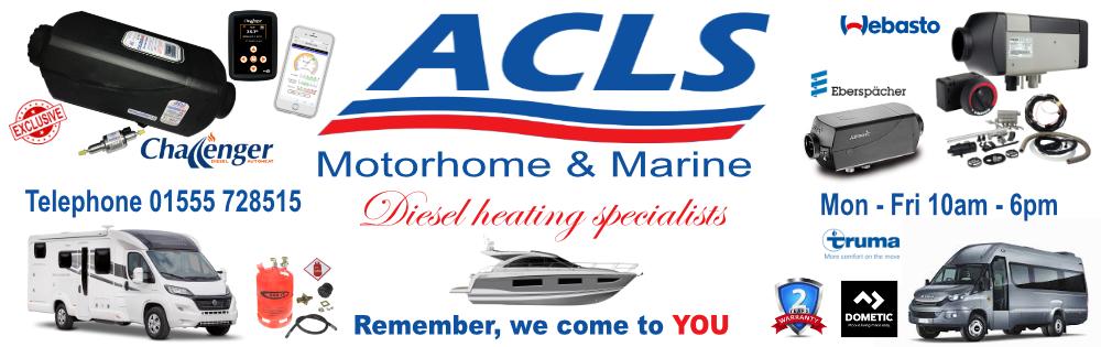 ACLS Retail - Motorhome : Marine : Commercial.  Lanark.  Tel 01555 728515